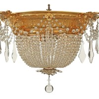 French 19th Century Louis XVI Style Belle Époque Period Crystal Plafonnier