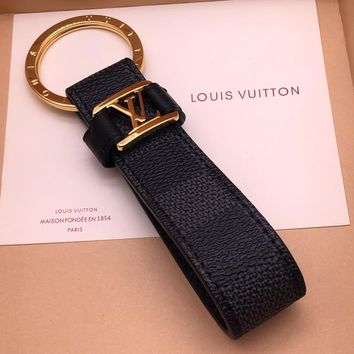 Louis Vuitton Lv Dragonne Key Holder Black Style 12 M62706 - Best Online Sale