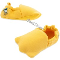 Licensed cool Donald Duck Feet Costume Dress Up Plush Baby SHOES SLIPPERS Disney Store 2017