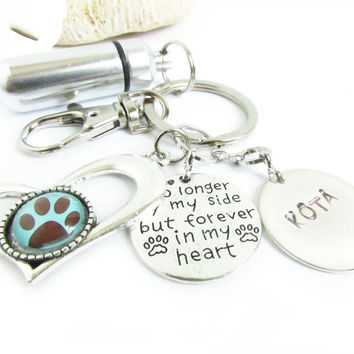 Pet Ashes Urn Keychain - Pet Loss Gift