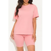 Chill Out Set Round Neck Pink