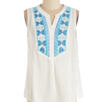 ModCloth Boho Mid-length Sleeveless Bound for the Beach Top