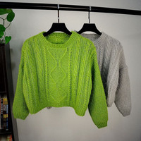Women's Warm Comfortable Soft Knitted Short Sweater