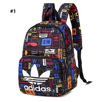 ADIDAS hot seller casual bag for men and women fashionable digital printed shopping backpack #1