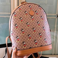 GUCCI & Disney New fashion more letter mouse leather women backpack bag women handbag