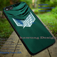 Attack on Titan Scouting Legion Levi Rivaille Cloak iPhone 6s 6 6s+ 5c 5s Cases Samsung Galaxy s5 s6 Edge+ NOTE 5 4 3 #cartoon #anime #attackontitan dt