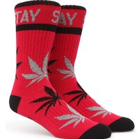 DGK Stay Smokin' Crew Socks - Mens Socks - Red - One