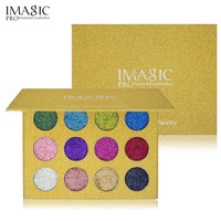 IMAGIC Pressed Glitter Eye Shadow 12 Colors Glitters  Eyeshadow Eyeshdow Palette Rainbow Diamond Makeup Cosmetics
