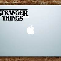 Stranger Things Logo Laptop Apple Macbook Quote Wall Decal Sticker Art Vinyl Teen TV Shows Netflix Eleven