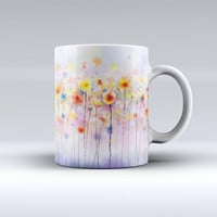 The Drizzle Watercolor Flowers V1 ink-Fuzed Ceramic Coffee Mug