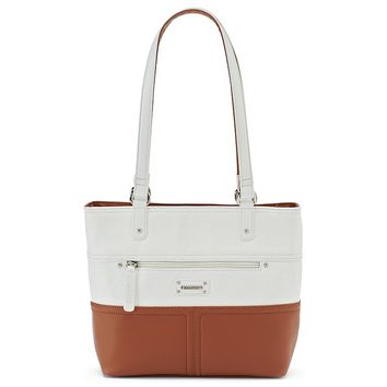 Stone & Co. Donna Colorblock Leather Tote (Brown)