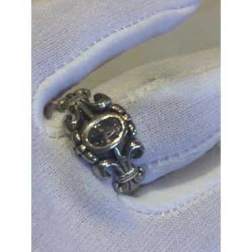 Vintage filigree Cubic Zirconia Crystal Gothic Sterling Silver ring