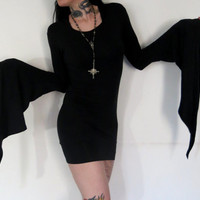 Hell Couture Bell Witch Hooded Mini Dress