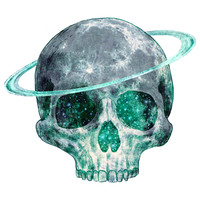 Terry Fan Cosmic Skull wall decal