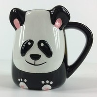 NEW PANDA Shaped Coffee/Tea Mug/Cup PANDA 3D Hand Painted by TAG ...So Cute