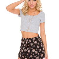 Lucy Basic Crop Top - Gray
