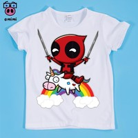 Deadpool Dead pool Taco Size(90-160cm) Children's  Superhero Cute Design Print T-shirt Boy and Girl  Tee Shirt Kids Clothes Cute Unicorn Baby AT_70_6