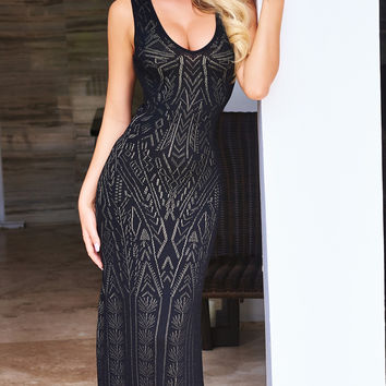 ALAIA BANDAGE GOWN IN BLACK/2 COLORS