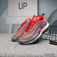 DCCK N686 Nike Air Max 97 Plus Cushion Running Shoes Red Grey