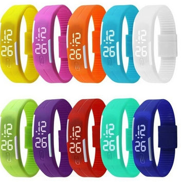 New Arrival! Fashion Sport LED Watches Candy Color Silicone Rubber Touch Screen Digital Watches, Bracelet Wristwatch = 1958651204