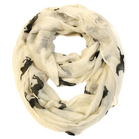 Galloping Horse Infinity Scarf -Cream