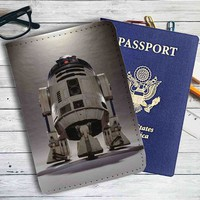 Star Wars R2D2 Leather Passport Wallet Case Cover