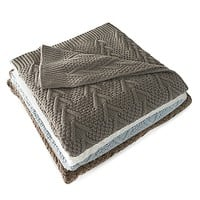 Flatiron Home Cable Knit Throw