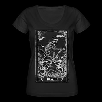 Death Card Tarot Women's Scoop Neck T-Shirt