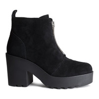 Suede Platform Boots - from H&M