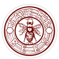 'Save The Bees' Sticker by PlatypusDoodles