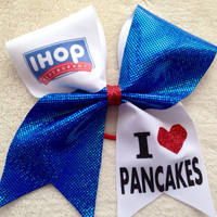 Cheer bow- Ihop I heart pancakes