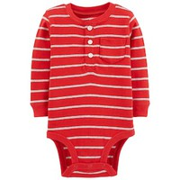 Baby Boy Carter's Striped Henley Bodysuit | null