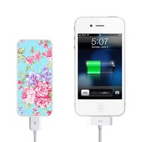 Stylish Floral Pocket Power Bank back up battery for iPhone and digital devices