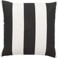 Simple Stripe Throw Pillow Black, Neutral
