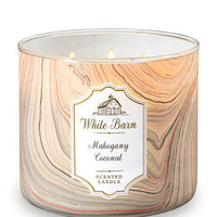 White BarnMAHOGANY COCONUT3-Wick Candle