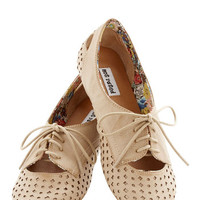 ModCloth Menswear Inspired Refined Your Footing Flat in Beige