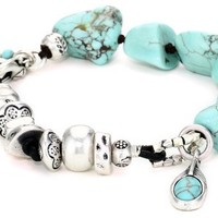 Lucky Brand Turquoise Triple Layer Bracelet