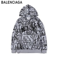 Balenciaga fashion hot seller graffiti print LOGO hoodie casual men and women