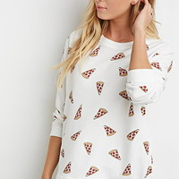 Pizza Graphic Sweatshirt