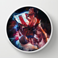 The win of my life is you Adrian! Wall Clock by Emiliano Morciano (Ateyo)