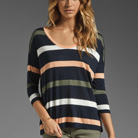 Soft Joie Fawn Multi Color Stripe Tee in Peacoat/Oatmeal/Porcelain from REVOLVEclothing.com