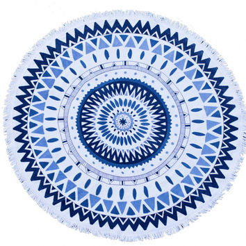 The Beach People - Majorelle Round Towel
