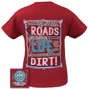 Girlie Girl Originals Dirt Road Arrow Of All The Roads Country Southern Bright T Shirt