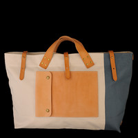 UNIONMADE - The Superior Labor - Back Packer in Natural and Blue Grey