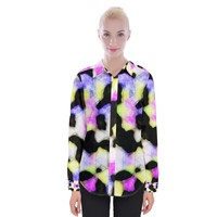 Watercolors Shapes On A Black Background Women Long Sleeve Shirt Womens Long Sleeve Shirt