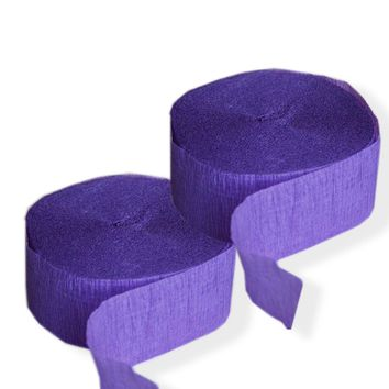 2 Purple Crepe Paper 81FT Party Streamers Wedding Birthday Baby Shower Decoration