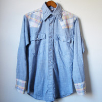 Vintage 1970s Levi's Western Snap Shirt Small by memoryvintage