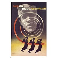 Your talk may KILL YOUR COMRADES vintage poster ABRAM GAMES UK 1942 24X36 new