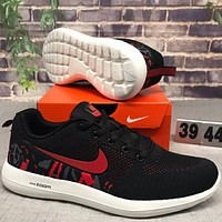 NIKE new fashion personality comfort shock-absorbing sneakers F-CSXY black+red hook