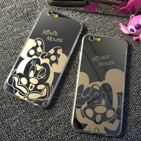 Mickey Minnie Mirror Phone Case Cover For iPhone 5 5S 6 6S 6Plus